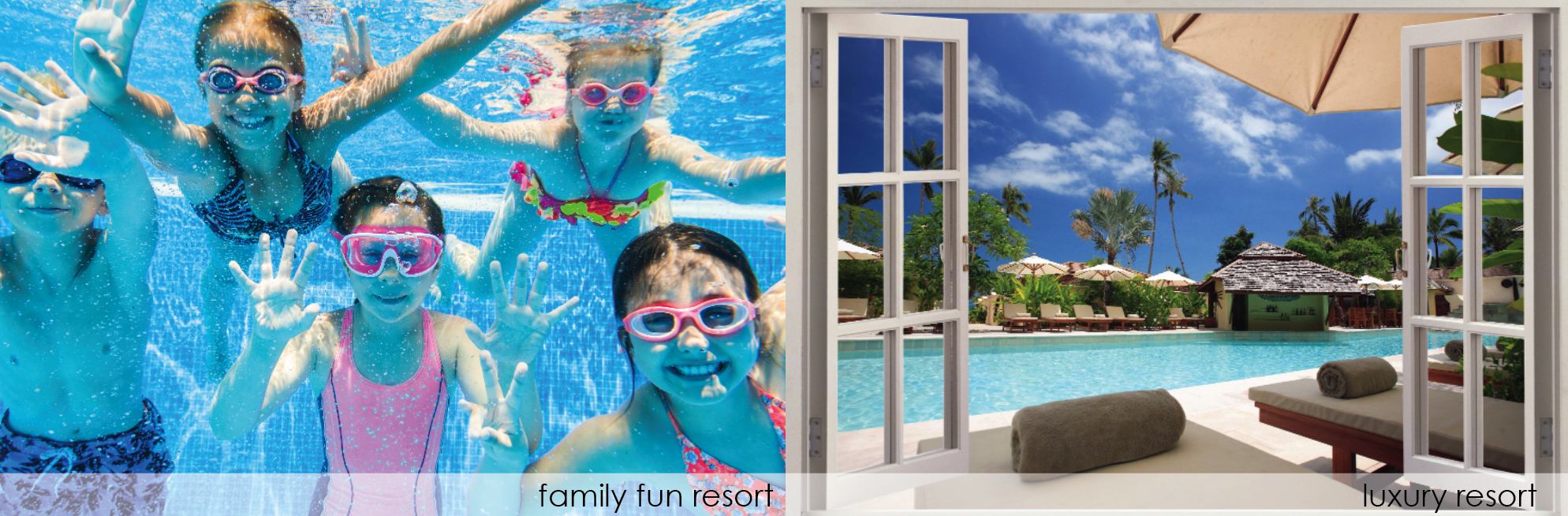 Hotel pool towels for luxury property or family friendly resort
