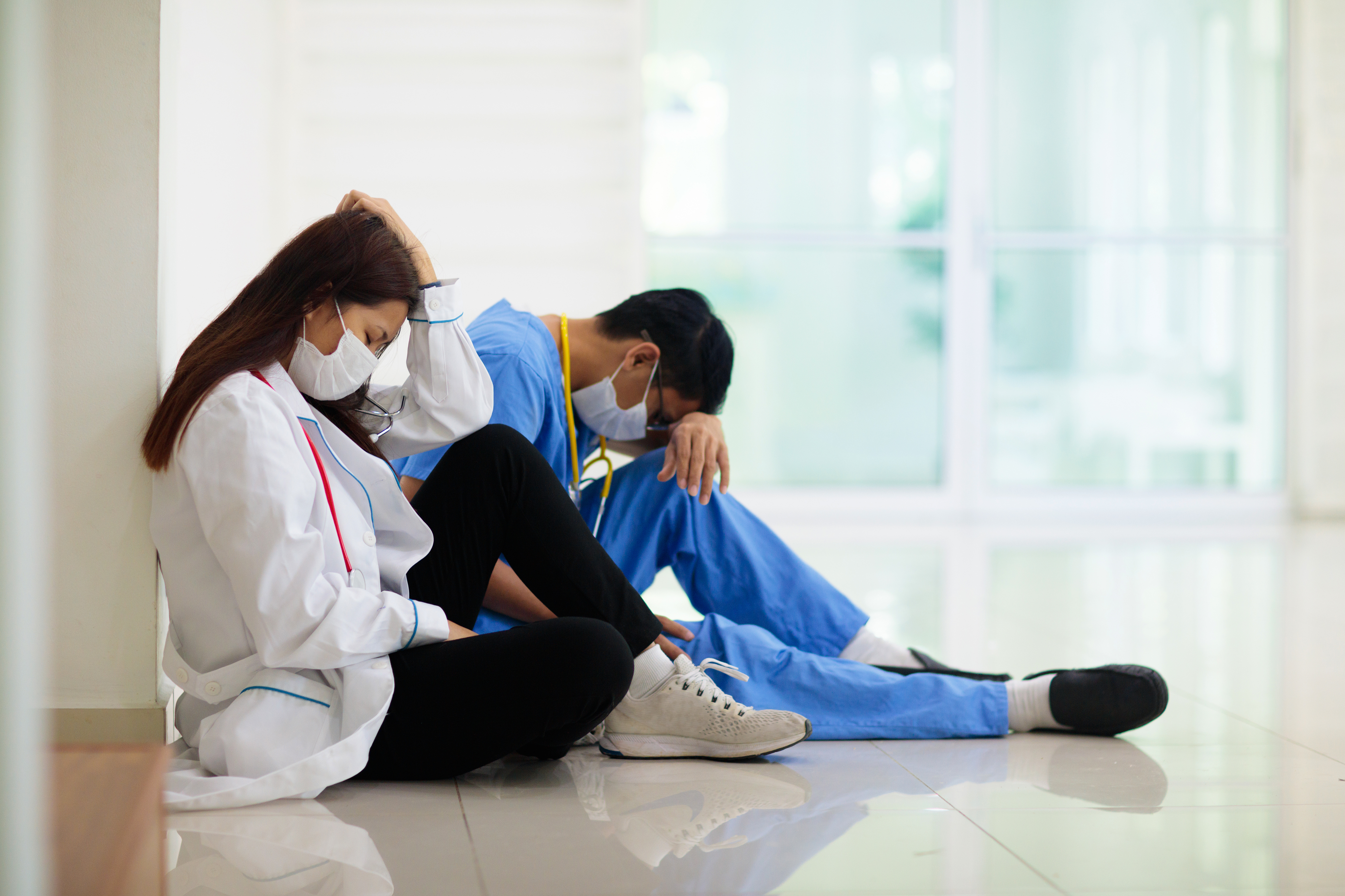 Exhausted Doctors